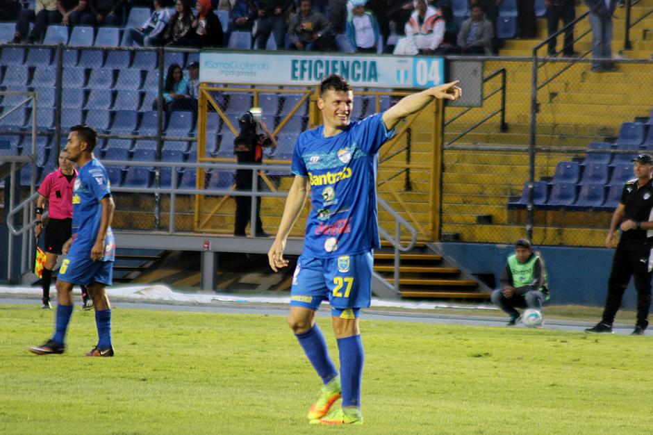 Orlando Moreira anotó el gol de la victoria para los cremas. (Foto: José Dávila/Soy502)