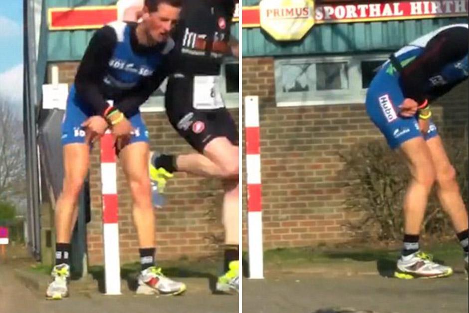 Un corredor se lastimó la entrepierna durante un maratón. (Foto: dailymail.co.uk)