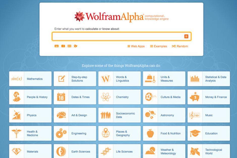 www.wolframalpha.com es otro de los buscadores opcionales. (Foto: Archivo)