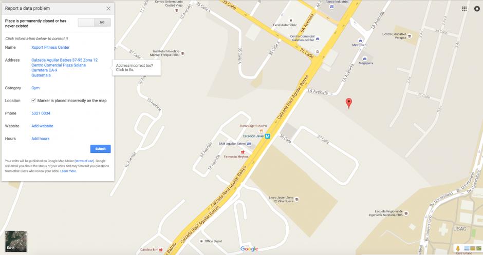 Luego puedes colocar los datos que consideres importantes sobre el lugar. (Foto: Google Maps)