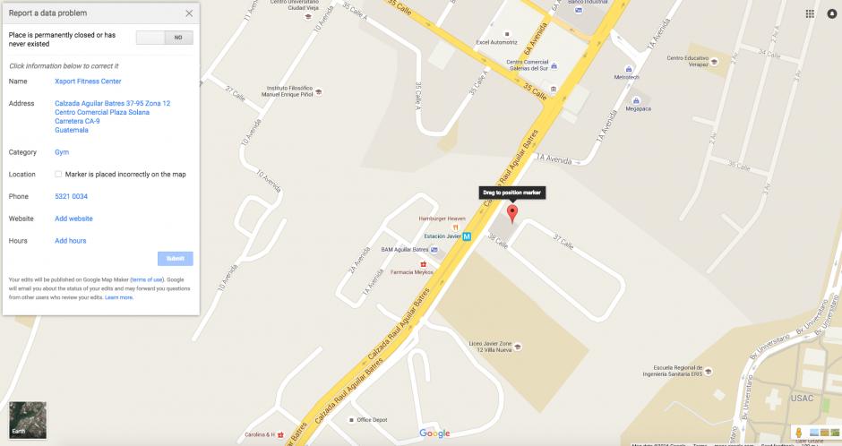 También puedes cambiar la ubicación si está incorrecta. (Foto: Google Maps)