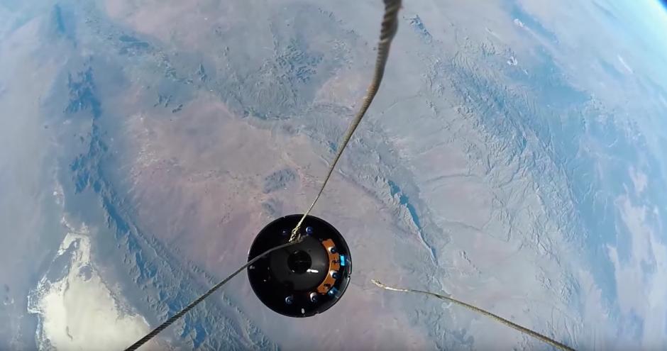 Desde el espacio se puede ver la Tierra. (Captura de pantalla: YouTube/GoPro )