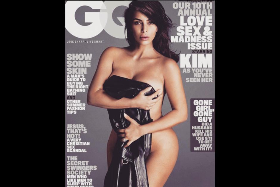 Luego de tener a su segundo hijo, Kim presume haber bajado 70 libras. (Foto: GQ)