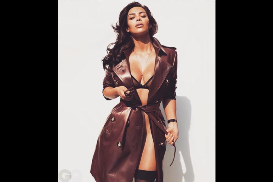 Kim demuestra su perdida de peso su con unas fotos muy sexys en la edición norteamericana de la revista. (Foto: GQ)
