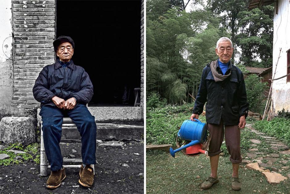 """Así se vestía el abuelo previo a su transformación de """"look"""" por parte de su nieto. (Foto: XiaoYeJieXi)"""