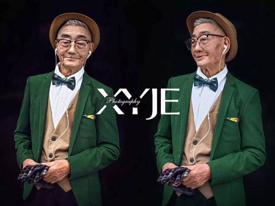Este abuelo de 85 años fue transformado en un icono de la moda, él es un granjero de la región de Fujian en China. (Foto: XiaoYeJieXi)