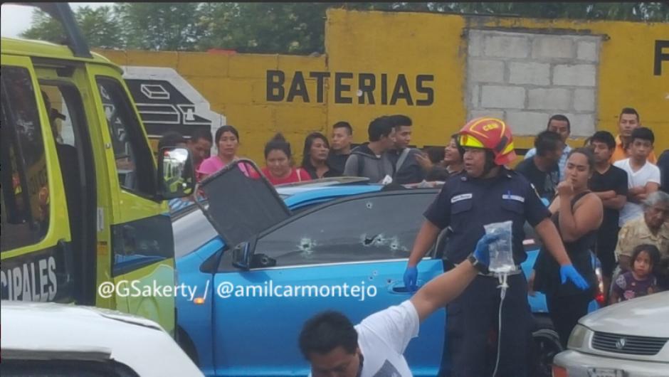 Dos heridos y un muerto dejó el ataque armado en la colonia Ciudad de Plata. (Foto: Twitter/@gsakerty)