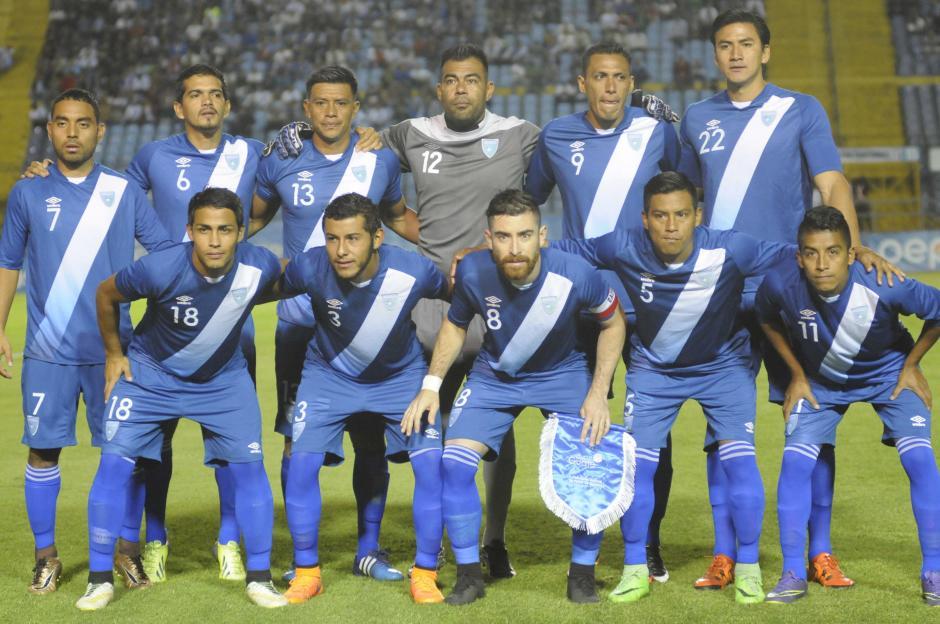 Este es el 11 inicial de la Selección de Guatemala. (Foto: Pedro Mijangos/Soy502)