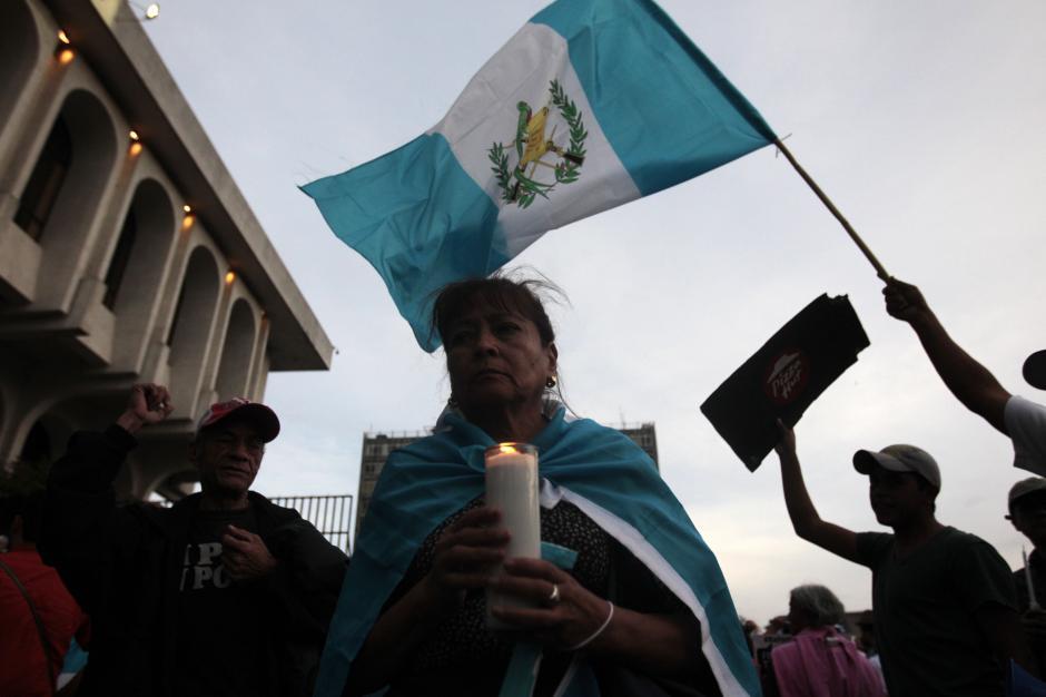 Desde el Palacio de la Justicia hasta el Parque Central, toda Guatemala quedó representada en varios kilómetros.(Foto: Esteban Biba/EFE)