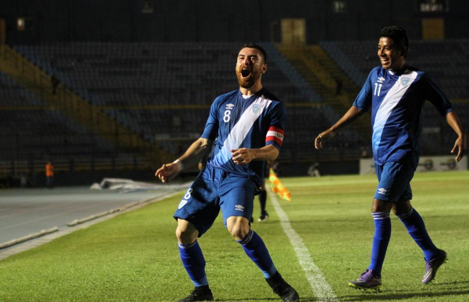 Así celebró Jean Márquez el único gol del partido. (Foto: Luis Barrios/Soy502)