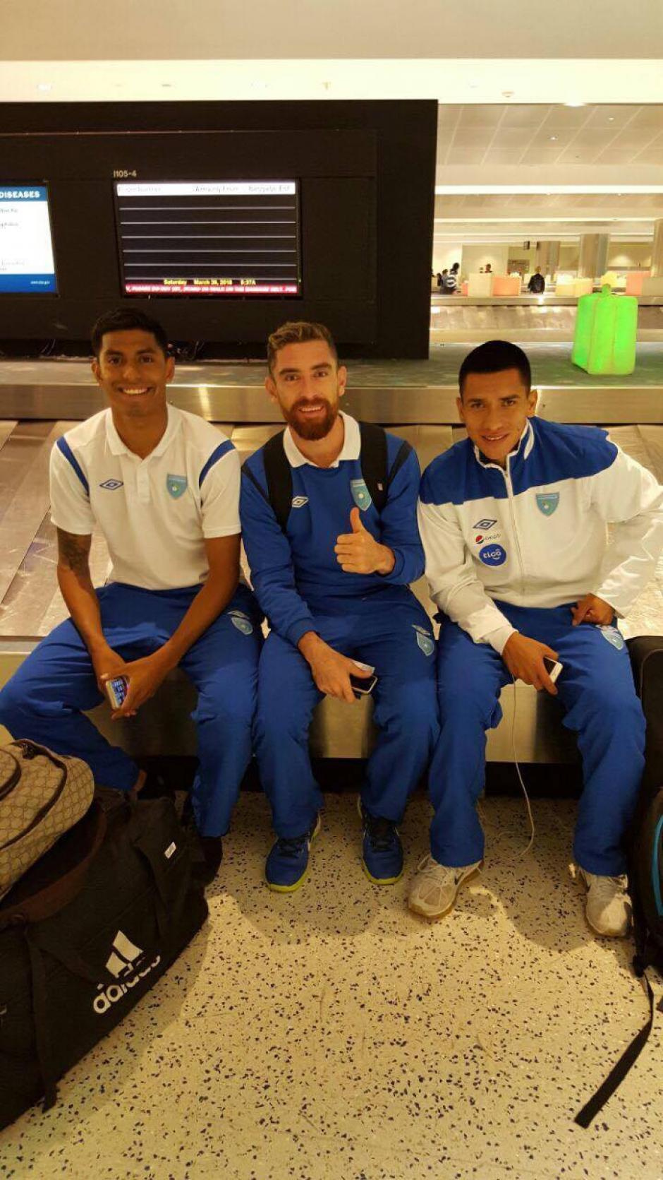 Moisés Hernández, Jean Márquez y Rafael Morales durante el viaje. (Foto: Edson Aldana/Enviado de la ACD)