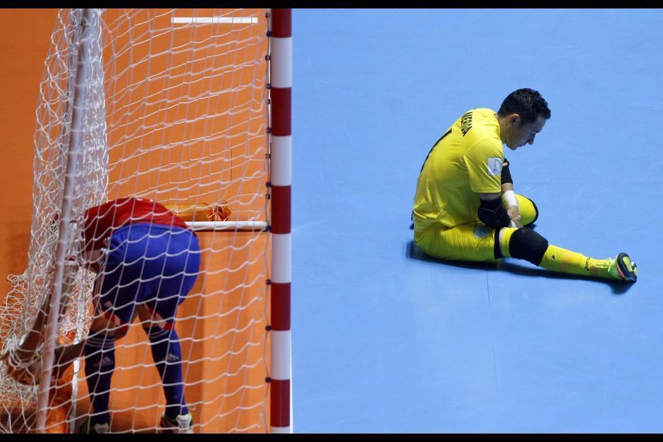 Mérida captado en su último partido con la Selección de futsal. (Foto: EFE)