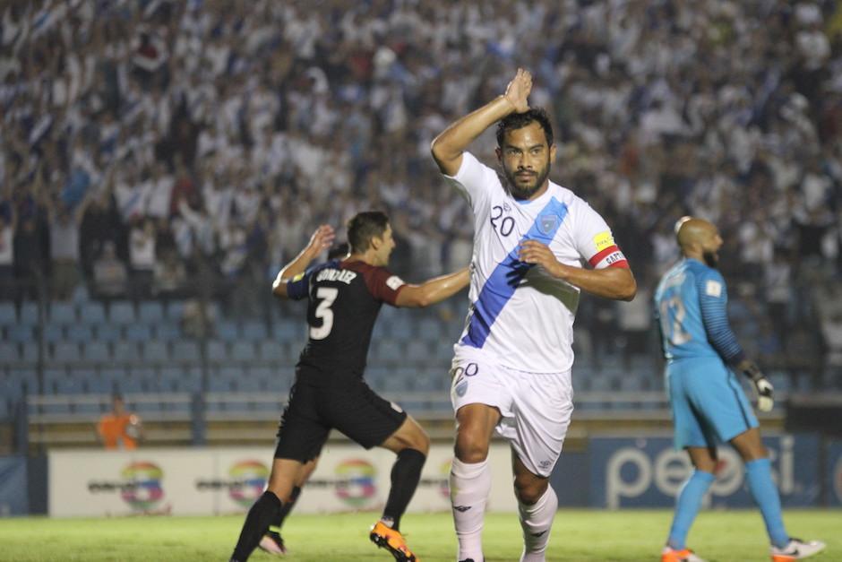 """En 63 ocasiones """"El Pescado"""" ha celebrado sus anotaciones con la Selección Nacional. (Foto: Archivo/Soy502)"""