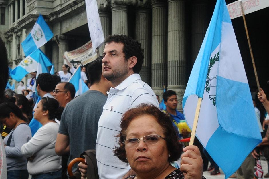 Alexander Aizenstatd también participó en las manifestaciones ciudadanas de 2015. (Foto: Alejandro Balán/Soy502)