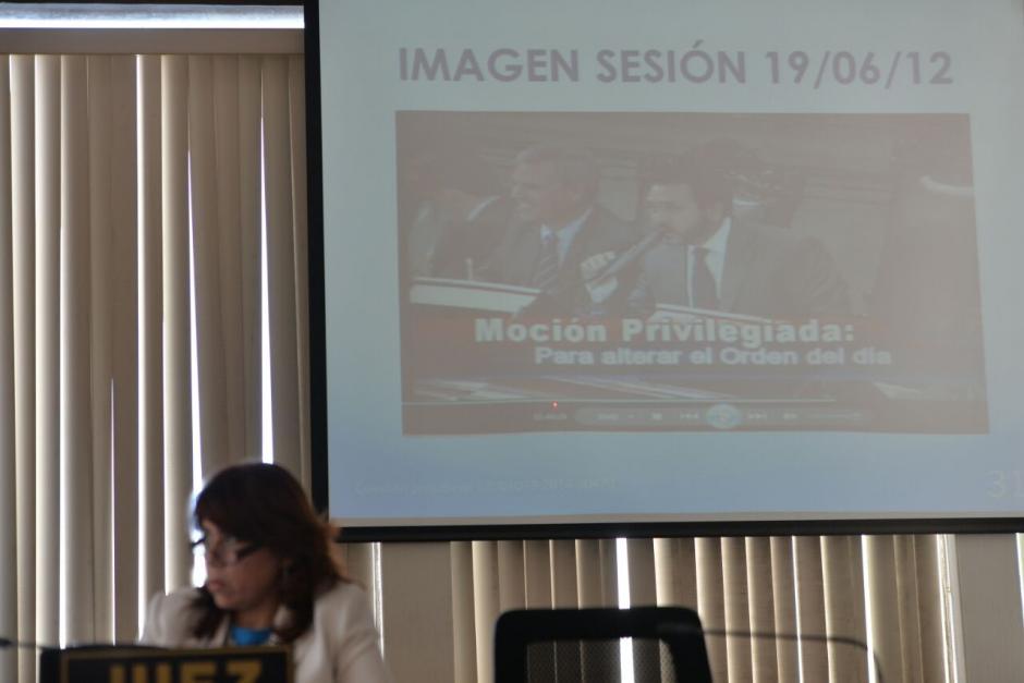 Durante la audiencia, la defensa de Rivera presenta pruebas de descargo. (Foto: Wilder López/Soy502)