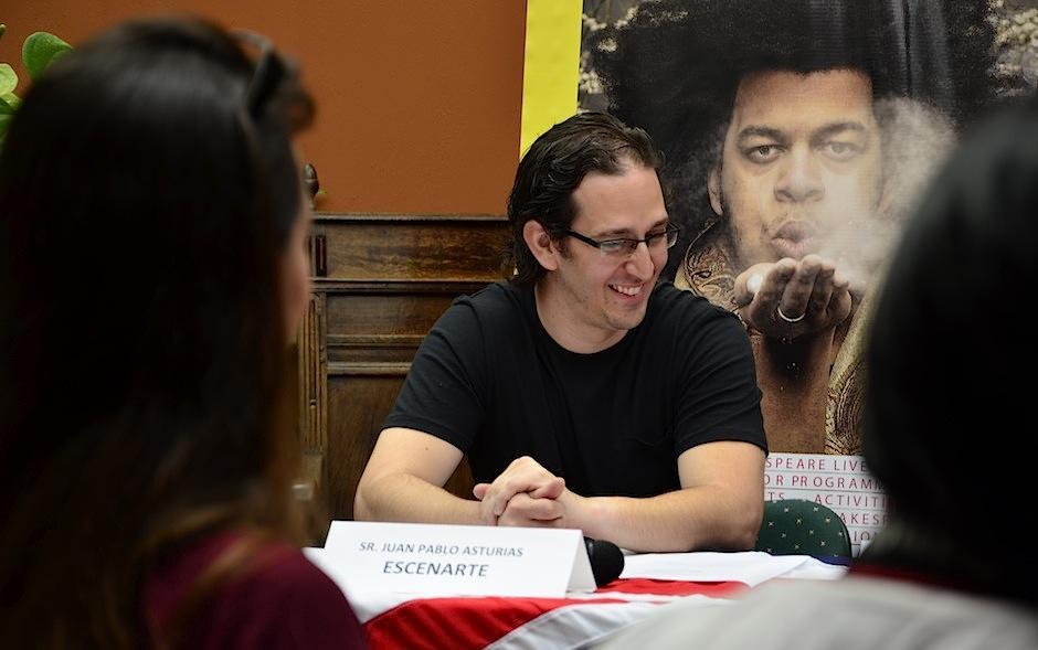Juan Pablo Asturias, director de Escenarte inició el proyecto. (Foto: Selene Mejía/Soy502)