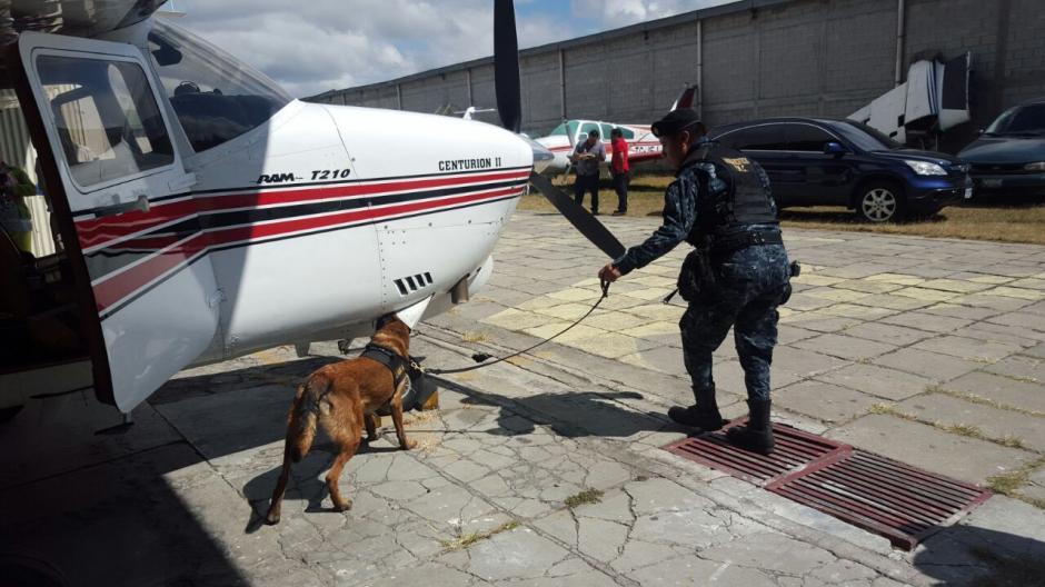 La PNC busca indicios de la utilización de avionetas por el crimen organizado. (Foto: PNC)