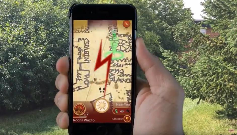 La app te avisaría si hay una presencia maligna cerca. (Captura de pantalla: Near Human Intelligence/YouTube)