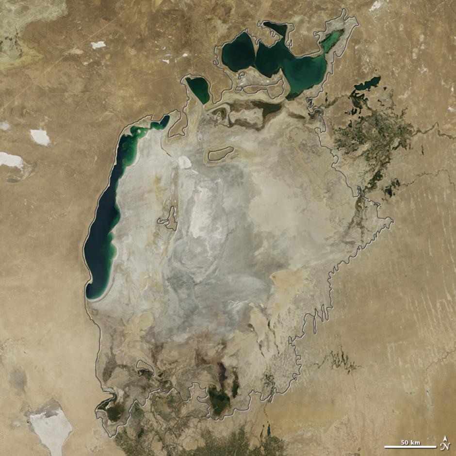 Estas son las imágenes de lo que queda del Mar Aral. (Foto: hdosoconsultores.com)