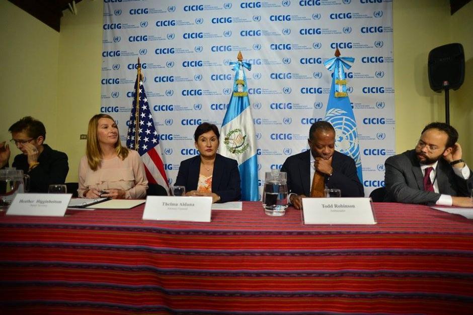 Los funcionarios también fueron acompañados porValerie Juliand cordinadora residente de las ONU en Guatemala. (Foto: Wilder López/Soy502)