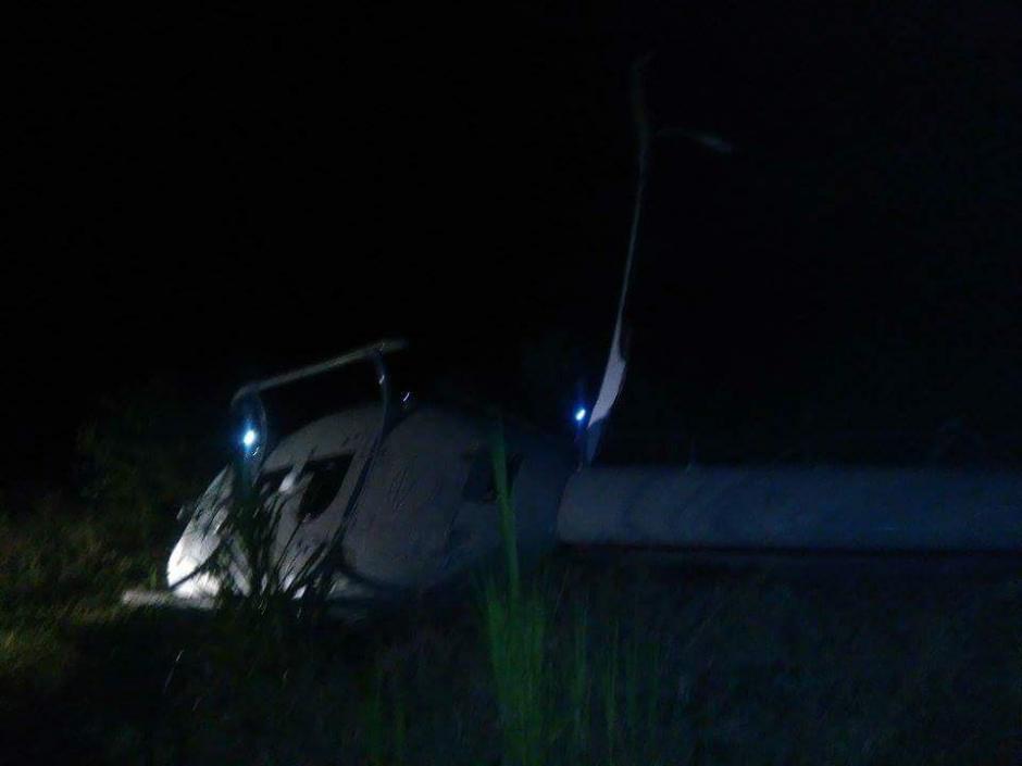 Un helicóptero en el que viajaban elementos de la PNC realizó un aterrizaje de emergencia en Alta Verapaz. (Foto: @myangelstheyou)