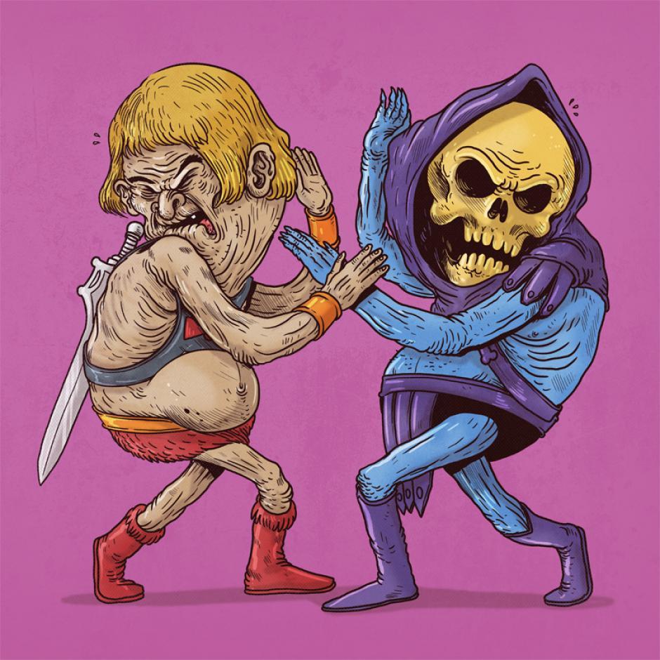 He-Man y Skeletor no le tienen miedo a luchar y dar el todo para ser los amos del universo. (Foto: Alex Solis)