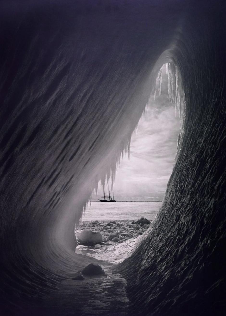 El Polo Sur en el año 1910 era un sitio inhóspito. (Foto: Herbert Ponting/National Geographic)