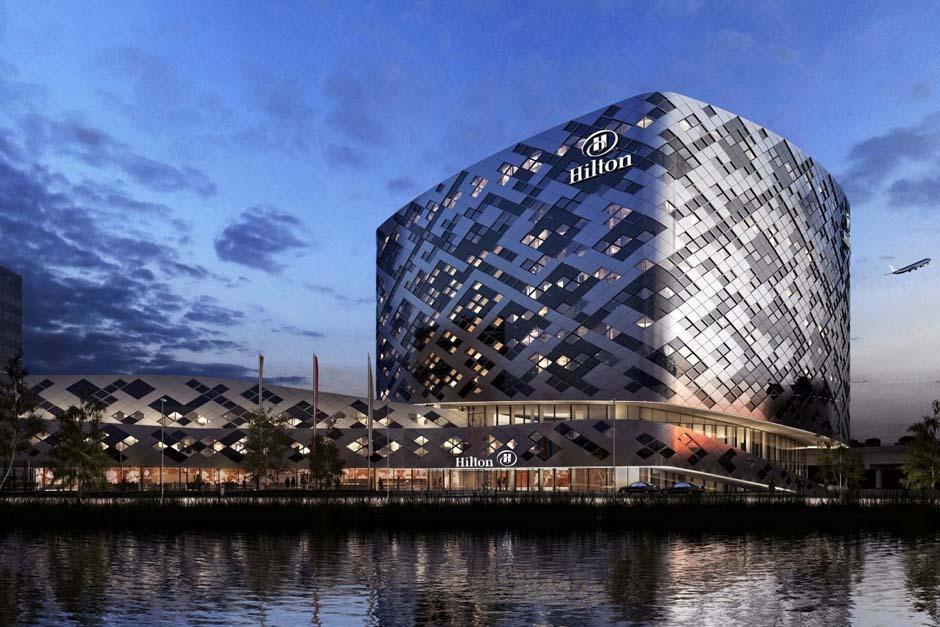 Fachada del Hotel Hilton de Amsterdam