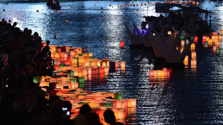 Unas 55 mil personas en la ciudad japonesa de Hiroshima recordaron hoy a las víctimas. (Foto: Internet)