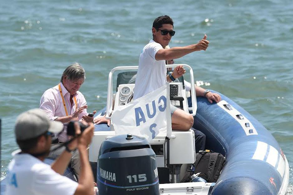 Juan Ignacio Maegli ganó el otro oro en navegación a vela para Guatemala. (Foto: Álvaro Yool/Nuestro Diario)