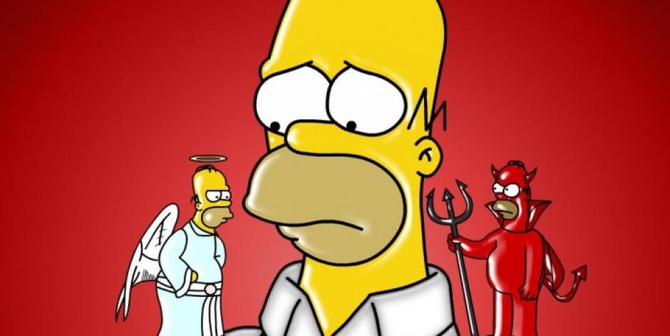 La parte buena y mala de Homero Simpson. (Imagen: Fox)