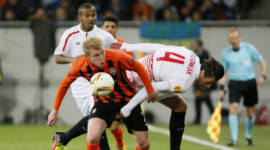 El Shakhtar empató en casa ante el Sevilla. (Foto: futbolas.com)