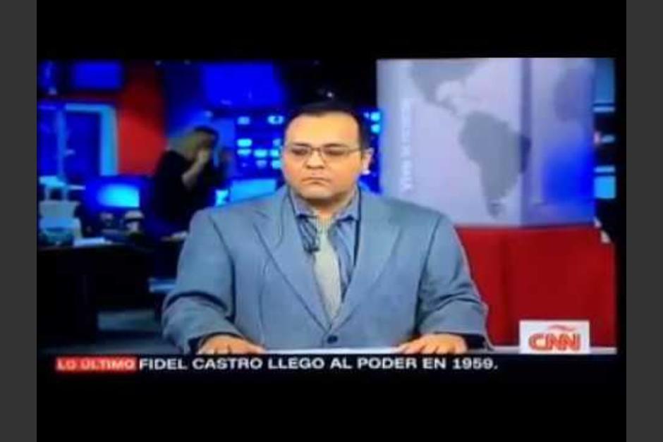 Richard Beltrán parece estar nervioso al anunciar la muerte de Fidel Castro. (Imagen: captura de video)