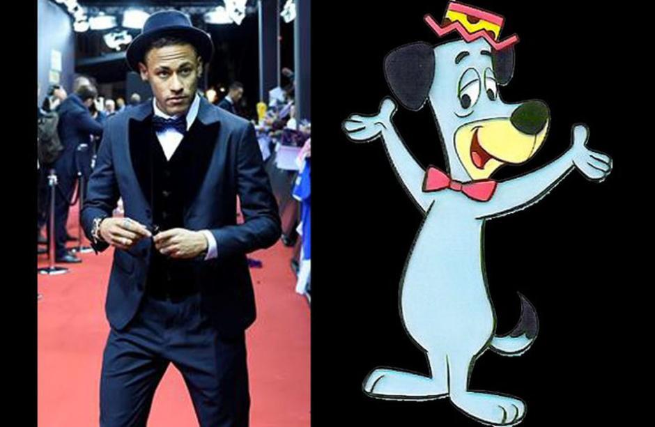 El vestuario de Neymar en la gala también fue motivo de bromas.
