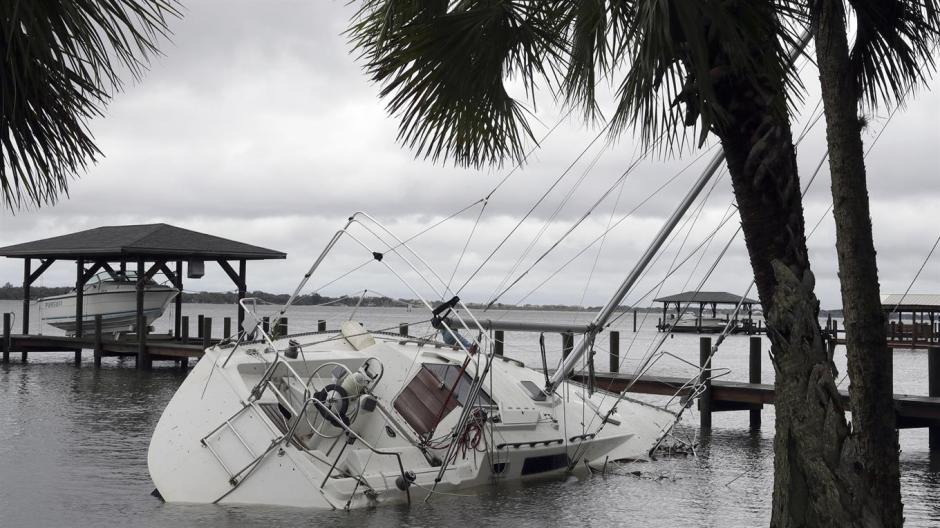 Algunas embarcaciones naufragaron en Rockledge, Florida. (Foto: lanacion.com.ar)