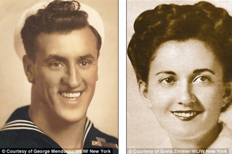Greta Zimmer Friedman y George Mendonsa fueron los protagonistas del beso. (Foto: elespectador.com)