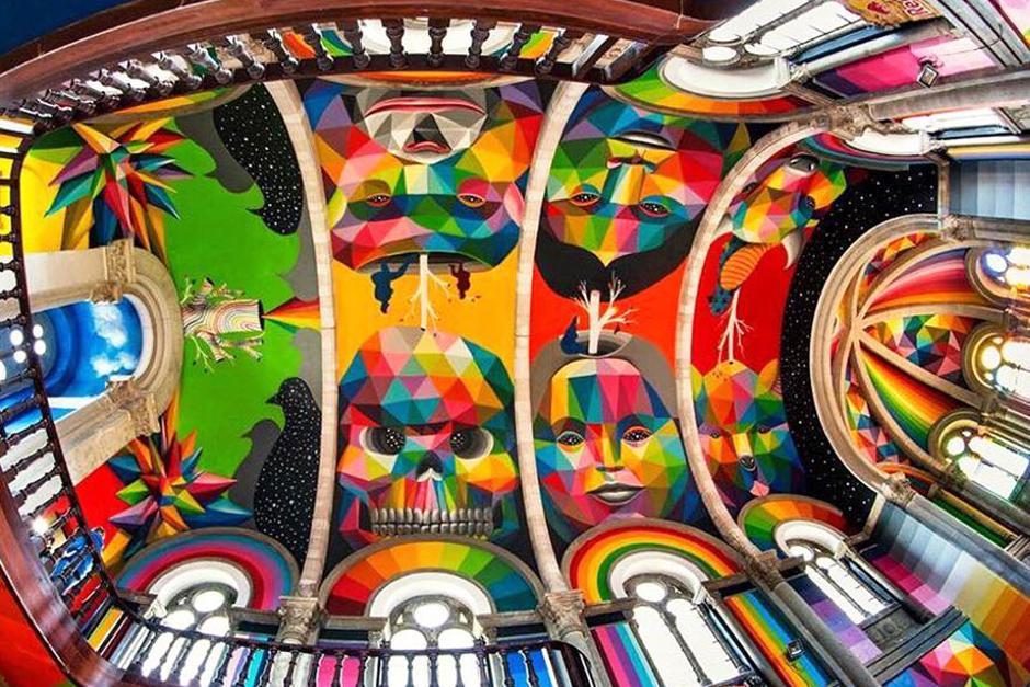 Pintura terminada en el techo de la Iglesia. (Foto: La Iglesia Skate / Red Bull Media)