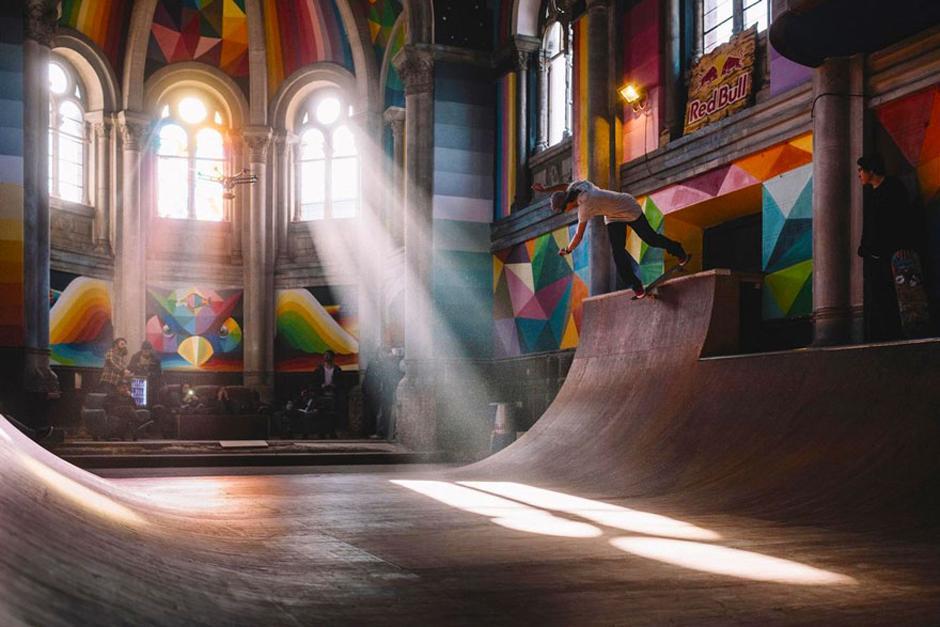 Vista panorámica de la iglesia Skate. (Foto: La Iglesia Skate / Red Bull Media)