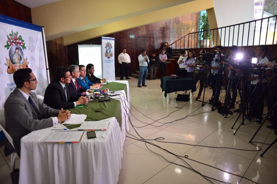 Durante la conferencia de prensa, se dieron a conocer el nombre de los cinco detenidos. (Foto: Jesús Alfonso/Soy502)