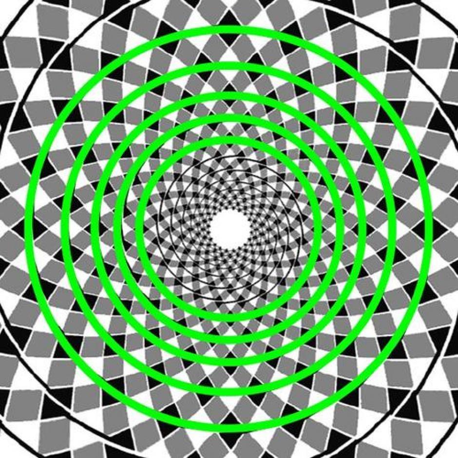 """Es una ilusión conocida como """"la falsa espiral"""" o su nombre original """"La ilusión del cordón retorcido"""". (Foto: Diario de Nueva York)"""