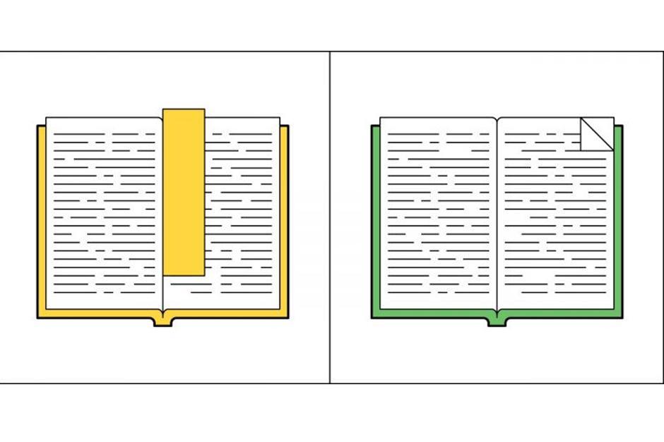 Usando colores vivos y líneas definidas, crea comparaciones que muestran calma y frustración. (Imagen: society6.com)