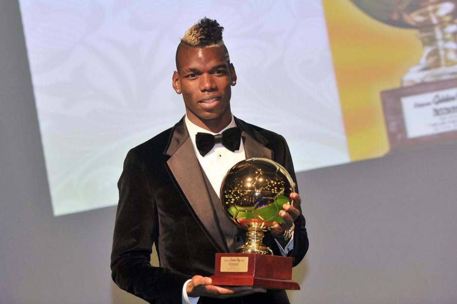 Paul Pogba fue reconocido como el mejor jugador jóven del mundo. (Foto: AFP)