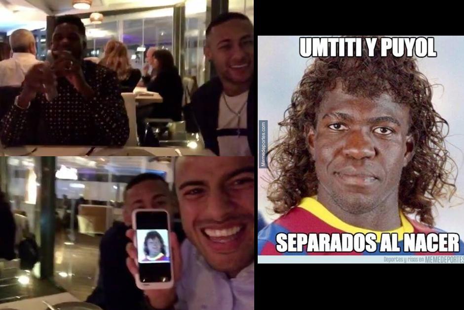 Hasta el propio Umtiti se rió de su imagen. (Imágenes: Instagram)