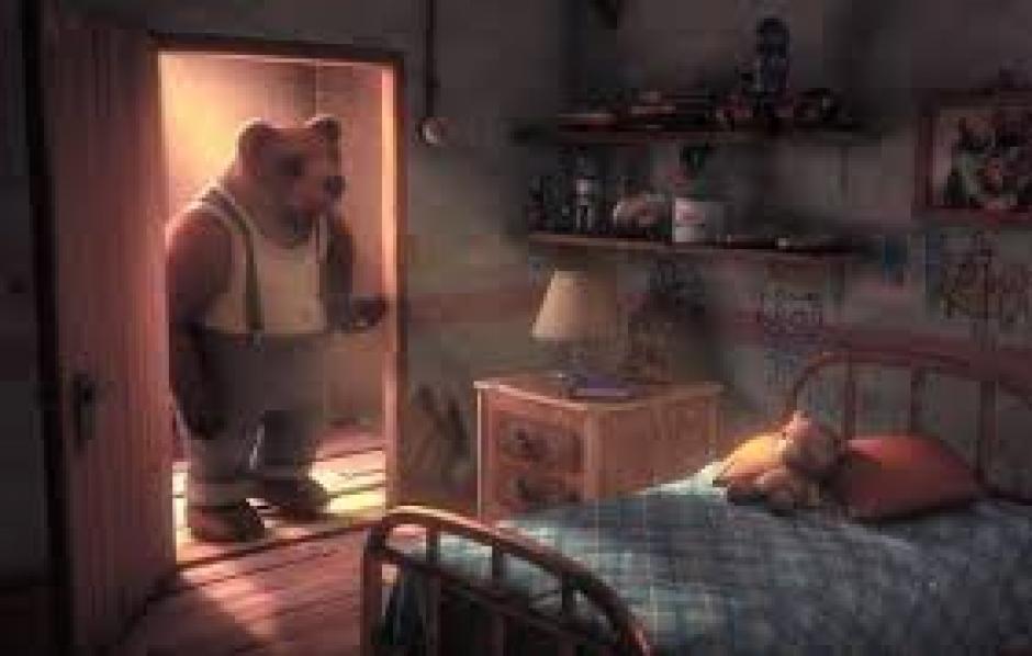Historia de un oso, cuenta la vida de un abuelo oso, el proyecto costó 40 mil dólares. (Foto: