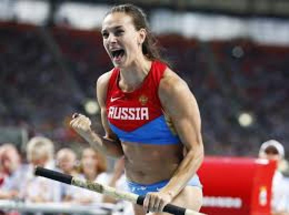 Los festejo y calidad Isinbayeva se extrañarán en las pistas del mundo. (Foto: AFP)