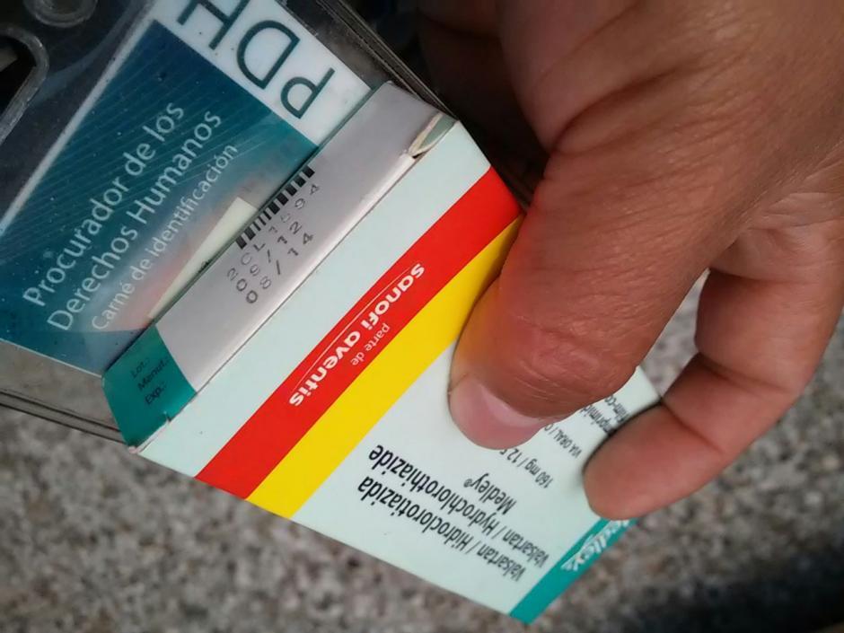 Algunos de los medicamentos localizados tienen más de un año de haber vencido, según se dio a conocer por la Procuraduría de Derechos Humanos. (Foto: PDH)