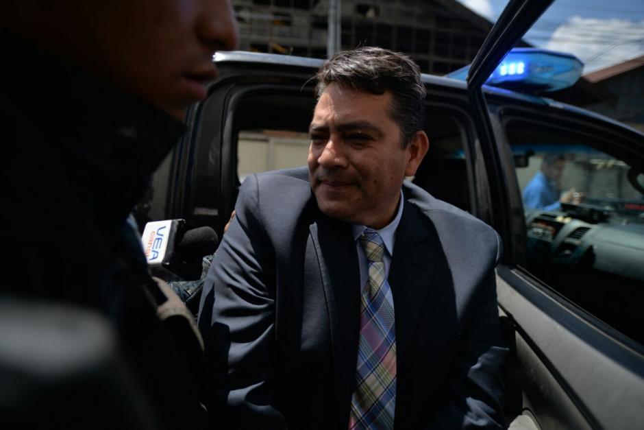 Trasladan al exdiputado Edgar Cristiani a la Torre de Tribunales. (Foto: Wilder López/ Soy502)