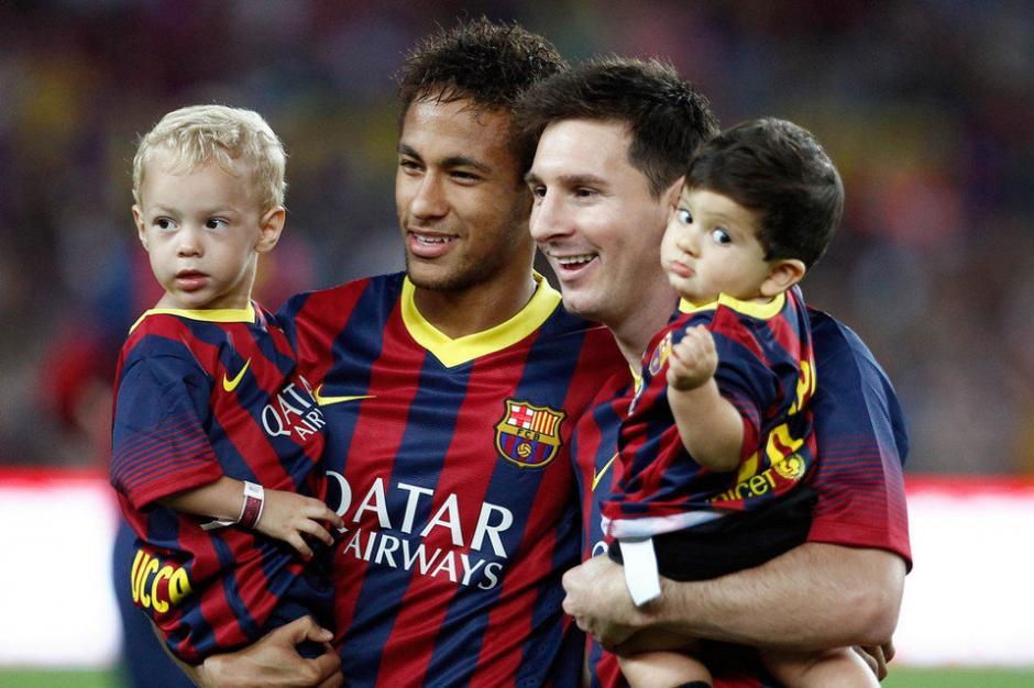 Los hijos de Neymar y Messi ahora juegan fútbol juntos.  (Foto: Twitter)