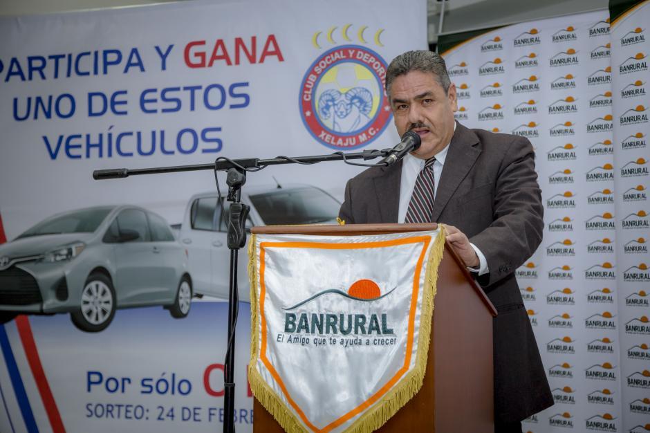 Lic. Abner Fonseca, gerente de mercadeo de Banrural, habla sobre la importancia del apoyo de la institución bancaria hacia el deporte nacional.(Foto: George Rojas / Soy 502)