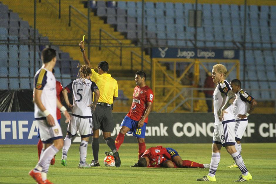 Beckerman fue amonestado por el Real Salt Lake durante la primera mitad del juego. (Foto: José Dávila/Soy502)